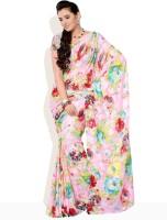 Diva Fashion Floral Print Synthetic Sari