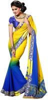 Bhavi Solid, Printed Embroidered Chiffon, Georgette Sari