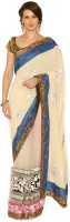 Senses Self Design Embroidered Embellished Georgette, Net Sari - SARDZZP8NHXXPKWJ