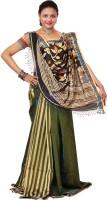 Hawai Striped Embroidered Silk Sari