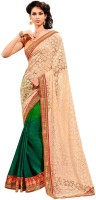 Kashish Lifestyle Self Design Embroidered Embellished Georgette, Net, Brasso Sari