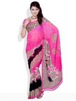Satrang Printed Synthetic Sari