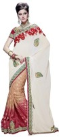 Fashionista Printed Embellished Georgette, Viscose Sari