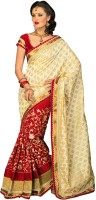 Chirag Sarees Self Design Embroidered Embellished Art Silk Sari