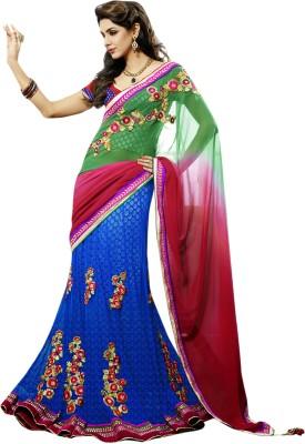 Triveni Printed Lehenga Saree Georgette Sari