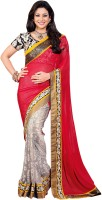 Bhavi Printed Embroidered Embellished Chiffon Sari