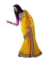 Taanshi Printed Chiffon Sari