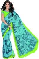 Taanshi Printed Crepe Sari