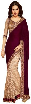 Offer Point Embriodered Bollywood Velvet Sari