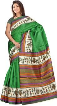 Vastrakala Printed Cotton, Silk Sari