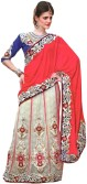 Exotic India Embellished Lehenga Saree Velvet, Net Sari