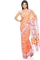 Aapno Rajasthan Floral Print Cotton Sari - SARDVX3FSCZGBPRP