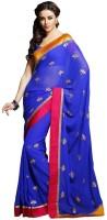 Ethnic Dukaan Checkered Chiffon Sari
