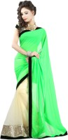 Stylo Self Design Embroidered Georgette, Net Sari