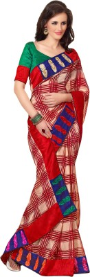Triveni Checkered Daily Wear Georgette Sari