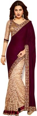 Compare 3nh Self Design Bollywood Handloom Georgette Sari at Compare Hatke