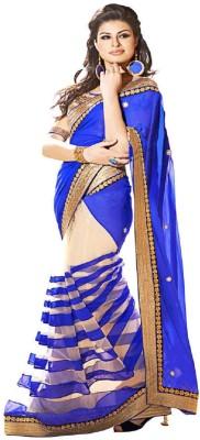 Compare Bollywood Designer Self Design Bollywood Georgette Sari at Compare Hatke