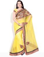 Diva Fashion Printed Embroidered Synthetic Sari