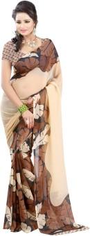Bunny Sarees Floral Print Fashion Chiffon Sari