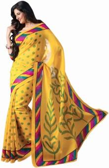 IndiansEFashion Polka Print Bhagalpuri Art Silk Sari