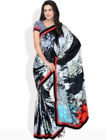 Manvi Floral Print Silk Sari