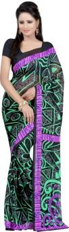 Bunny Sarees Geometric Print Fashion Georgette Sari