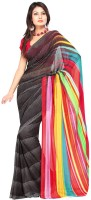 Petrafab Striped Georgette Sari