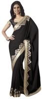 Bhavi Printed Embroidered Embellished Georgette Sari