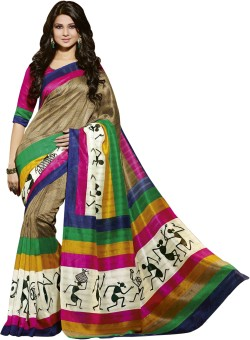 Fashion Boutique Printed Mysore Art Silk Sari