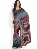 Manvi Geometric Print Silk Sari