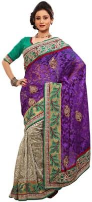 Triveni Printed Bhagalpuri Net Sari