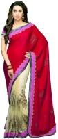 Fashionista Printed Embellished Net, Crepe Sari