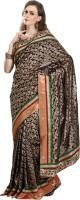 Cbazaar Floral Print Embroidered Embellished Brocade Sari