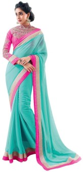 Sareeka Sarees Plain Bollywood Chiffon Sari