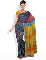 Dori Printed Synthetic Sari
