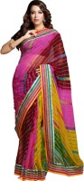 Aapno Rajasthan Printed Embroidered Chiffon Sari