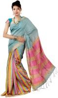 Hawai Striped Embellished Silk Sari