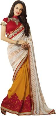 Aarti Saree Embriodered Fashion Handloom Georgette Sari