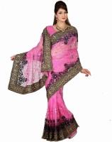 Saree Swarg Printed Net Sari