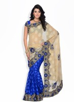 Four Seasons Printed Jacquard Sari