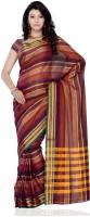 Cottonbaazar Striped Cotton Sari
