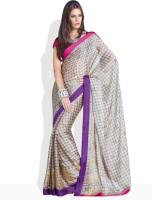 Vishal Floral Print, Printed Silk Sari