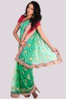 Aparnaa Printed Embroidered Embellished Net Sari