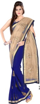 Prabhat Silk Mills Self Design Bollywood Georgette Sari