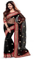 Sourbh Sarees Self Design Embroidered Net Sari