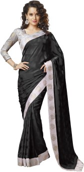 Nanda Silk Mills Self Design Bollywood Crepe, Jacquard Sari - SARE48FEWV9PHSJZ