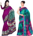 Sunaina Printed Cotton, Silk Sari - SARDTX45FHJSESNK