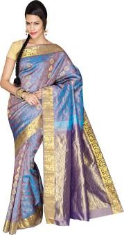 Anya Sarees Self Design Kanjivaram Handloom Pure Silk Sari