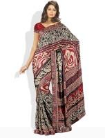 Dori Printed, Striped Synthetic Sari