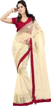 Prabhat Silk Mills Self Design Bollywood Net Sari